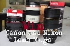 Win Canon and Nikon Mugs
