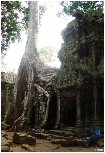 Woodcarver at Ta Prohm