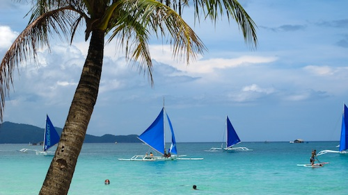A typical morning in Boracay