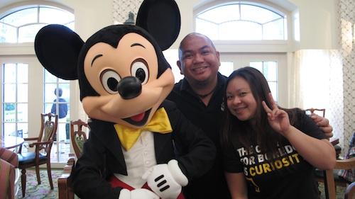 Mickey with Me and Paula