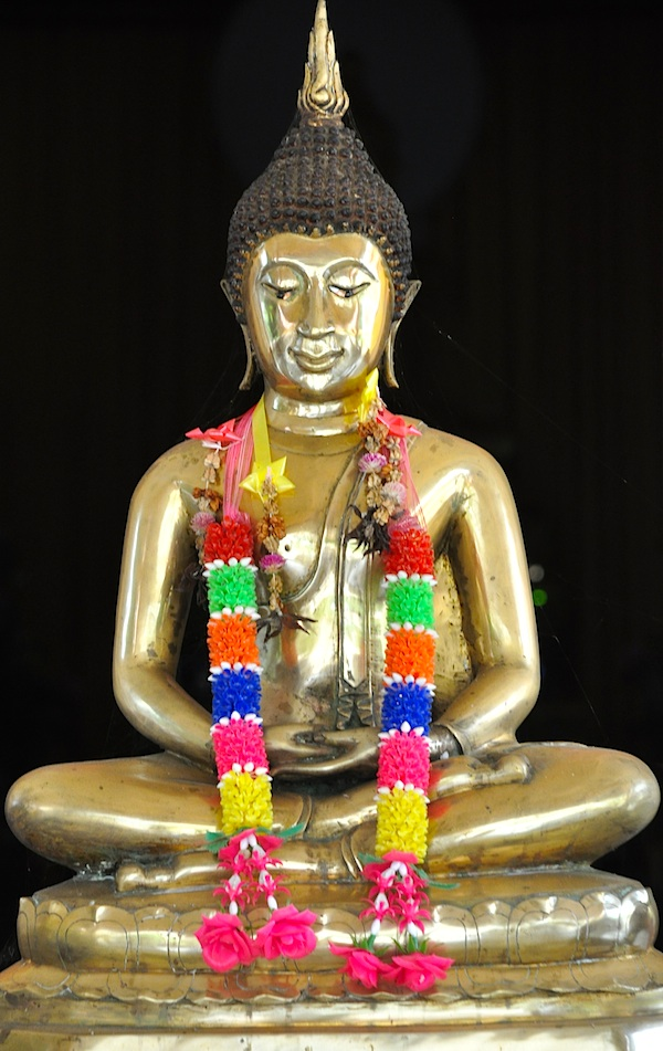 Golden Buddha Wat Photivihan Buddhist Temple in Tumpat