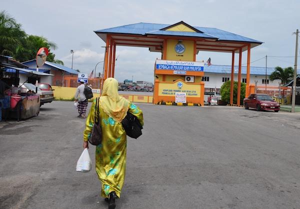 Malaysia and Thailand Boarder in Pengkalan Kubur