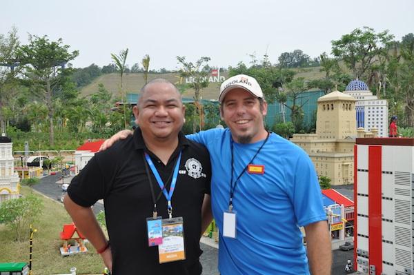 Melo Villareal with Miniland's Mayor Patrick Demaria