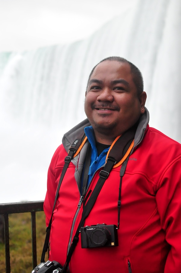 Wearing Industry Disgrace Camera Strap in Canada