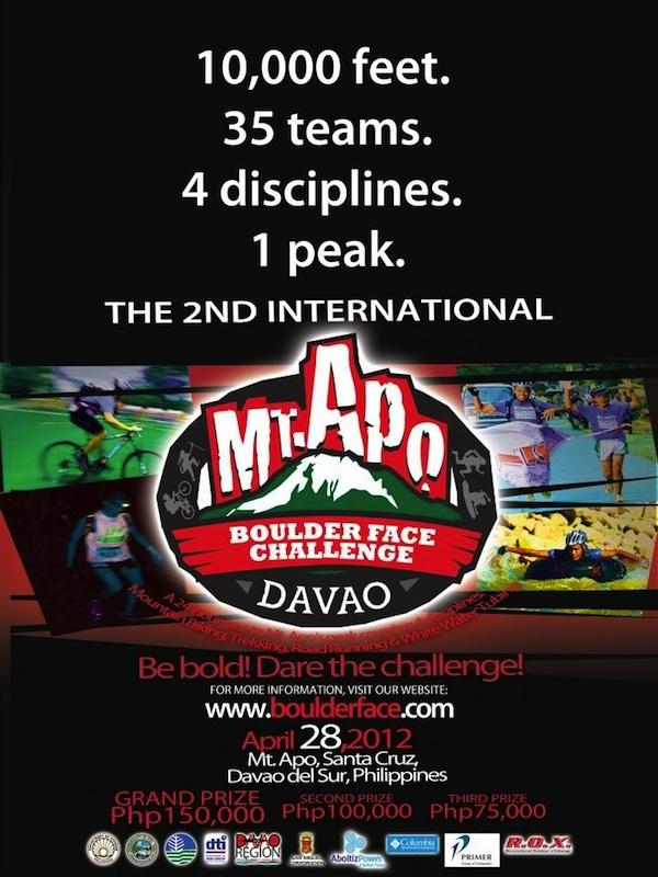 3rd International Mt. Apo Boulder Face Challenge