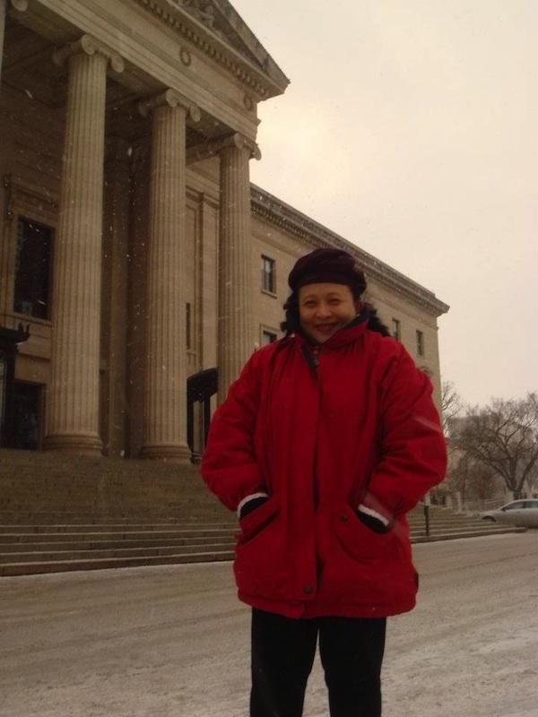 Vien at The Legislative Building in Winnipeg