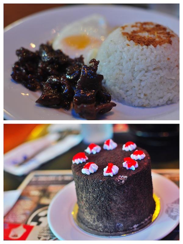 Tapsilog and Chocolate Cake