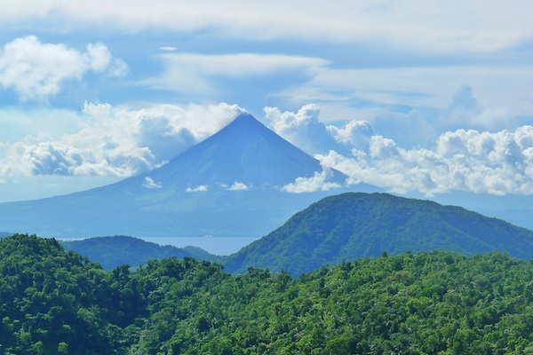 View of Mayon Volcano from Bacman Plant