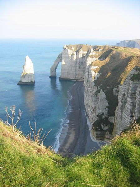 Limestone cliffs of Normandy near Étretat
