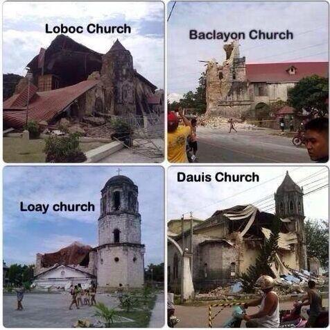 Photos of Bohol Churches after the Earthquake