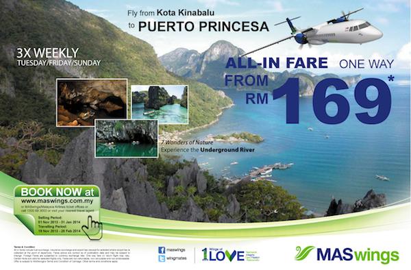 MASwings now flies to Puerto Princesa City Palawan