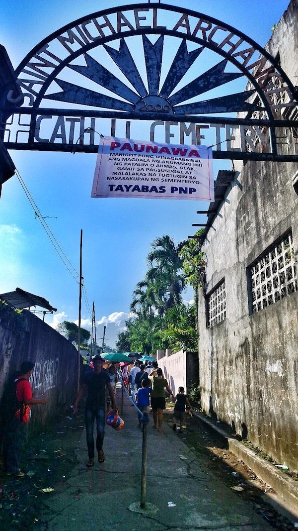 Tayabas Catholic Cemetery Entrance