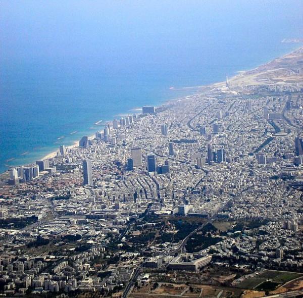 Aerial view of Tel Aviv Metropolitan Area