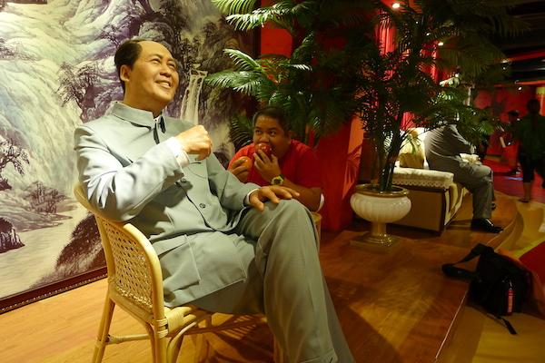 Look whos eating Mao's Apple