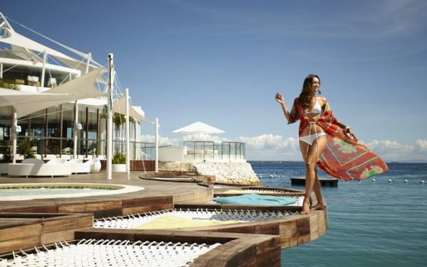 Lounging at the Ibiza Beach Club