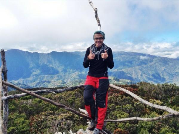 Mc Pol Cruz in Mt. Tabayoc in Benguet
