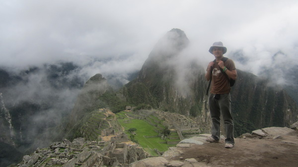 Standing above Machu Picchu