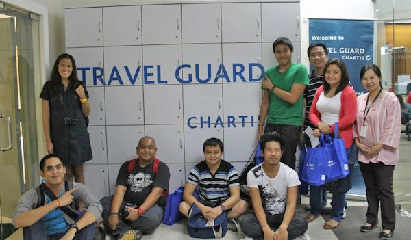 Travel Bloggers at Chartis Hearquarters in KL courtesy of PAL Express