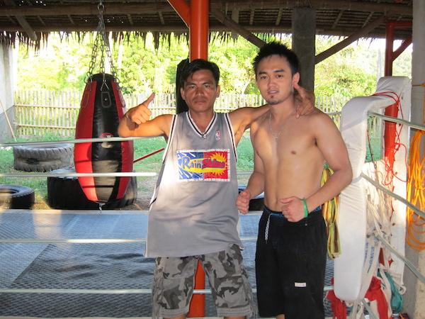 With my Filipino boxing teacher on Boracay