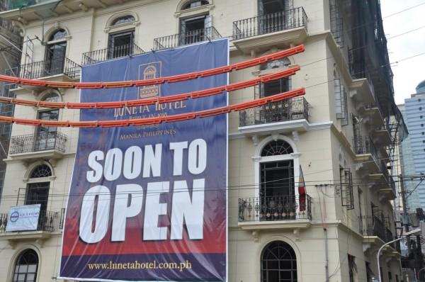 Luneta Hotel Opening Date