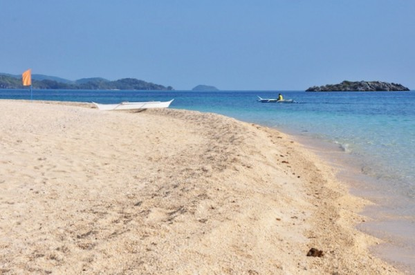 White Sand Beach in Cobrador Island