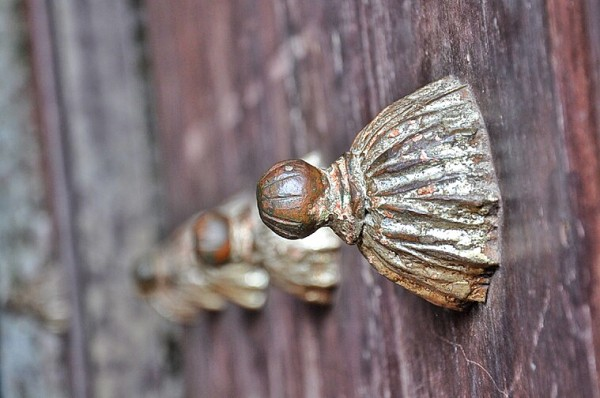 Wooden Door of the Church of St. Gregory the Great in Majayjay