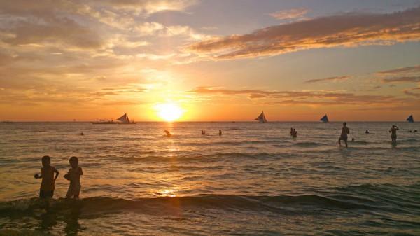 Boracay Sunset by Brenna Bustamante