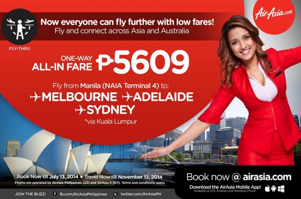 AirAsia Zest Fly Thru Promo
