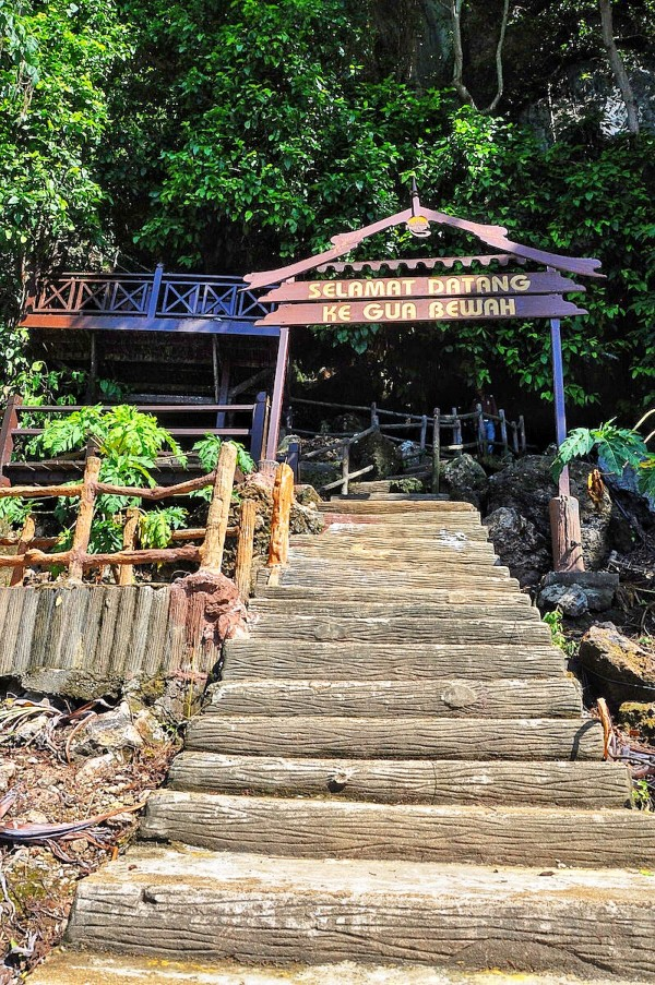 Concrete Stairs to Bewah Cave