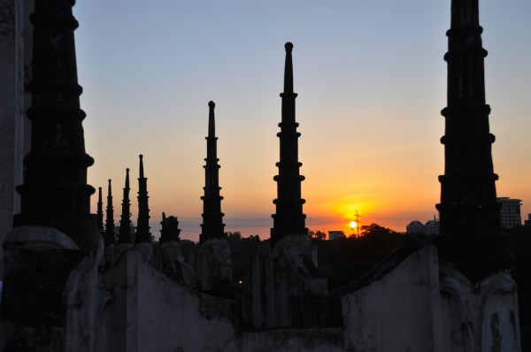 Manila Bay Sunset from Metropolitan Theater