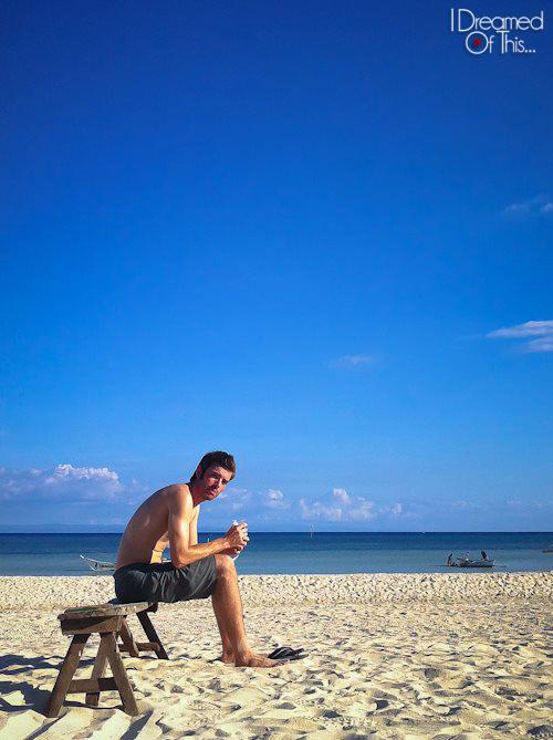 Nathan in Bantayan Island, Philippines