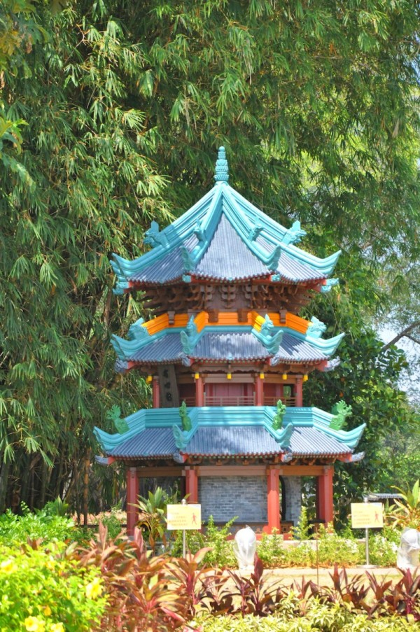 Replica of Chinese-style minaret of the Great Mosque of Xi'an