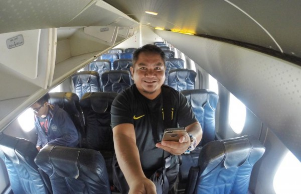 Inside SkyJet Aircraft during Baler Inaugural Flight