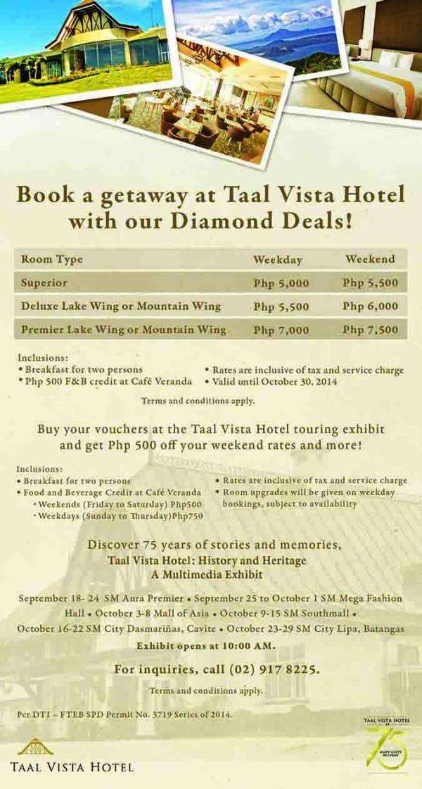 Taal Vista Hotel Diamond Deals