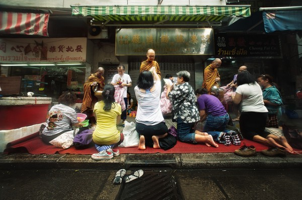 Morning Monks in Hong Kong