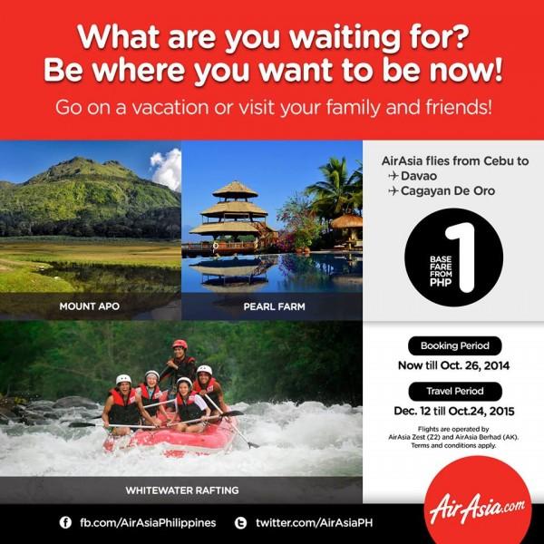 AirAsia Seat Sale Cebu to Davao and CDO