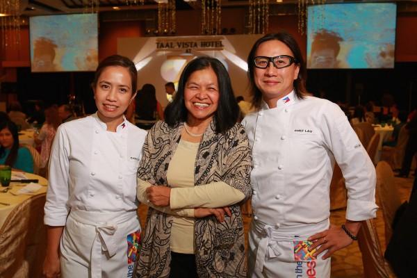 Chef Jackie Laudico, Chef Babes Austria and Chef Rolando Laudico