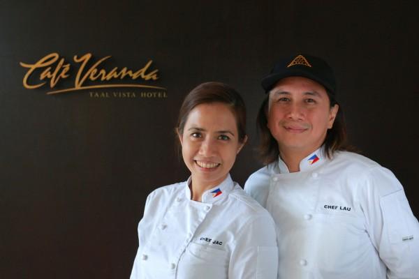 Chefs Rolando and Jackie Laudico