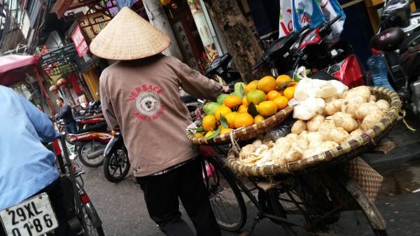Fruit Vendors in the Streets of Hanoi