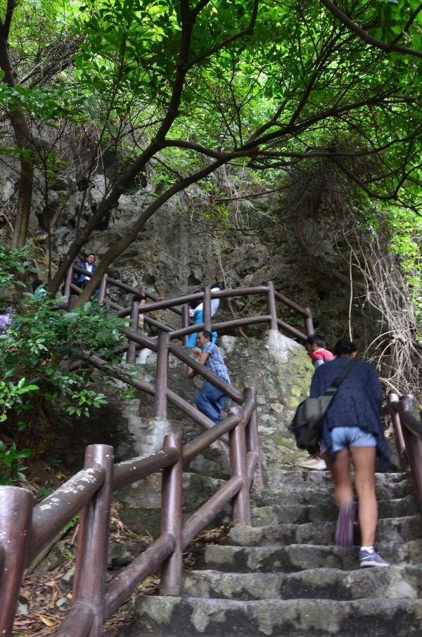 Short hike to the cave entrance