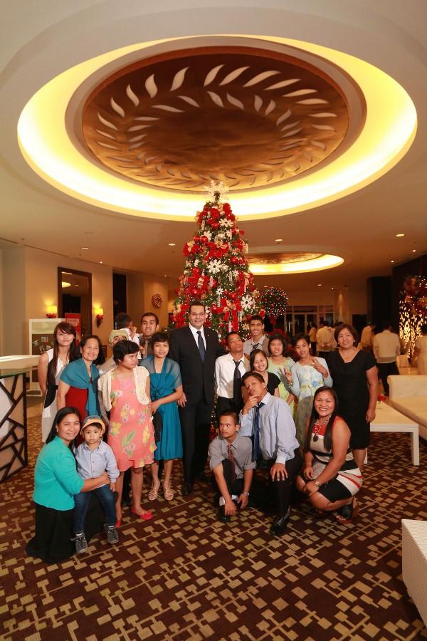 The Chosen Children Village with Taal Vista Hotel Area General Manager Walid Wafik and Hotel  Manager Zenaida Alcantara