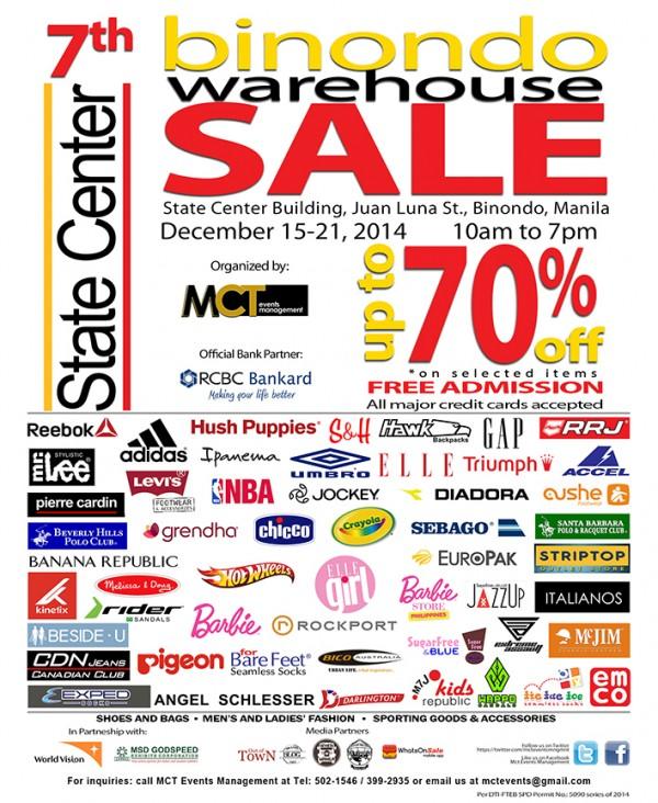 7th Binondo Warehouse Sale 2014