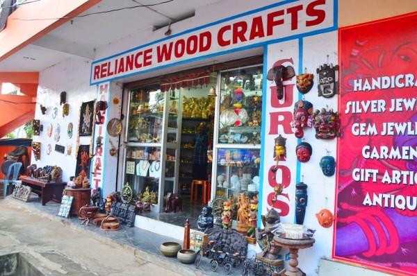 Souvenir Shop near Kovalam Beach