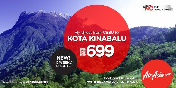 Cebu - Kota Kinabalu Flights