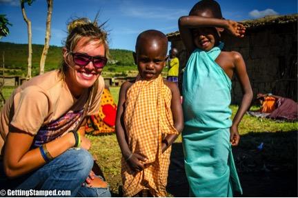 Hannah in Maasai