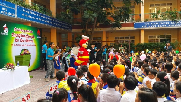 Jollibees annual toy and book drive made its way to    Ho  Chi Minh in Vietnam, enabling schoolchildren to experience the joy of     giving