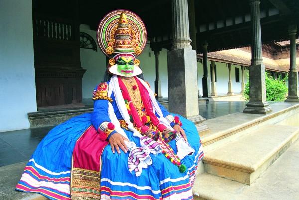 Kathakali Dancer in Kerala