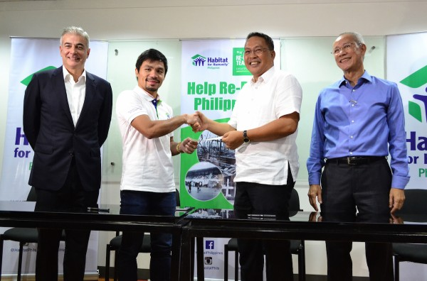 Manny Pacquiao Renews Commitment with Habitat For Humanity Philippines