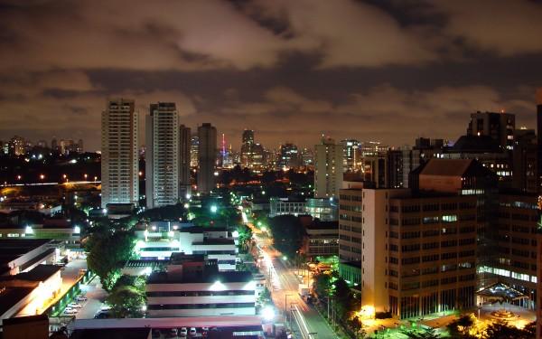 Sau Paulo City at Night photo via Wikipedia