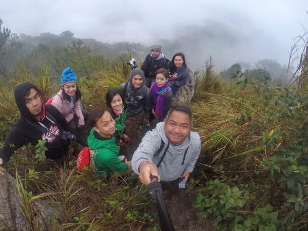 Cordillera Heritage Warrior Caravan Participants in Sagada Kiltepan Viewpoint